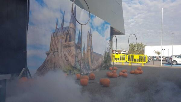 simulateur de Quidditch - avec fumée