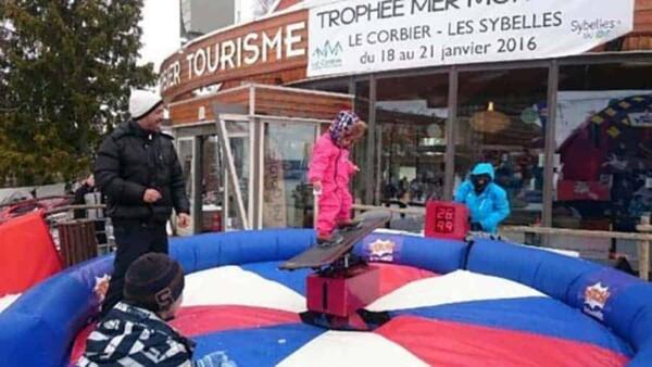 simulateur snowboard mécanique : enfant