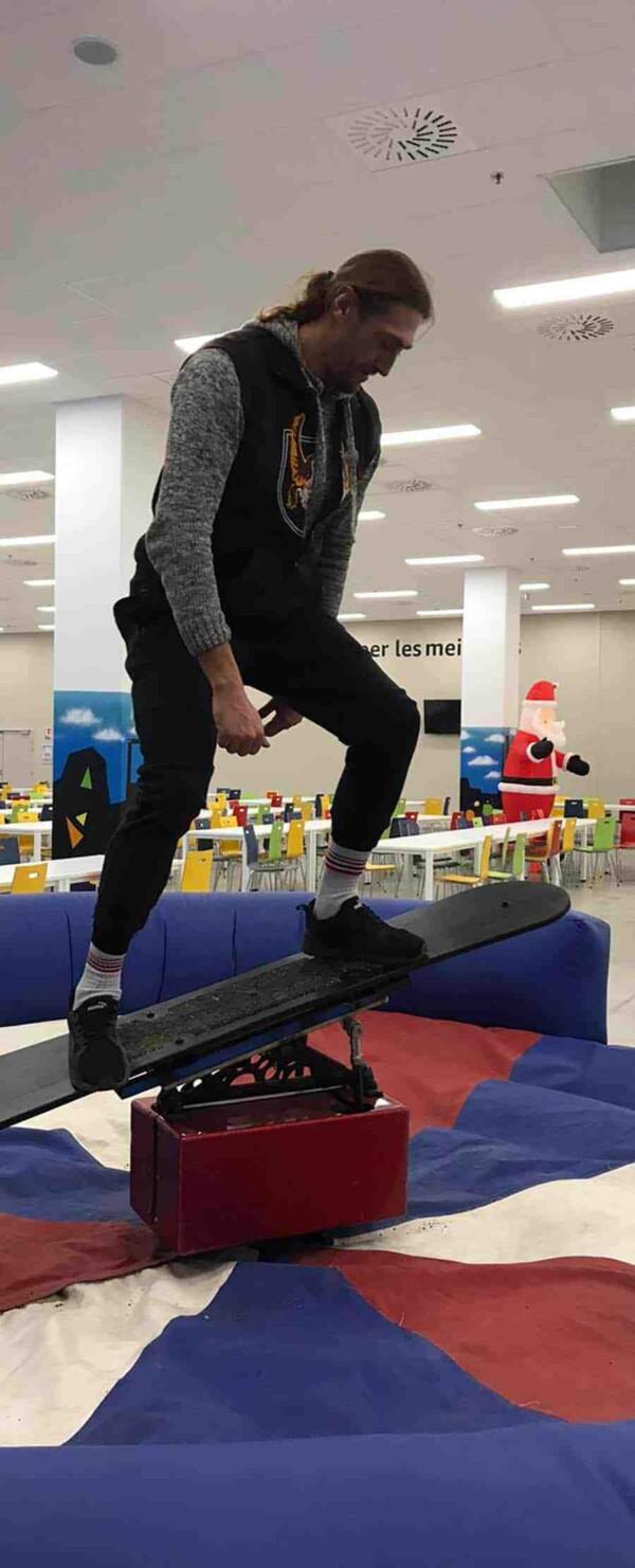 simulateur snowboard mécanique : c'est parti