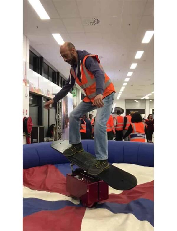 simulateur snowboard mécanique : équilibre