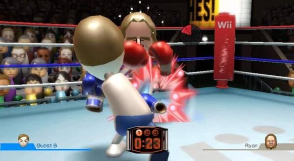 Stand Wii : match de boxe