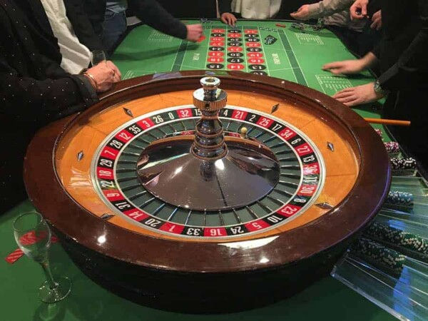 Table de Roulette : cylindre posé