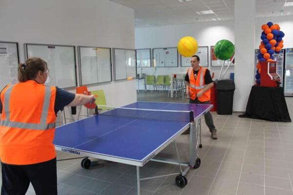 Table de ping pong : en plen match