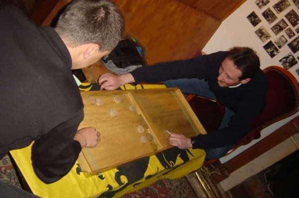 Table elastique : combat