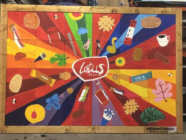 Team building Art Building : la toile Lotus