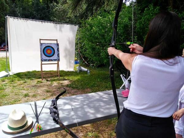 Tir à l'arc : pret à tirer