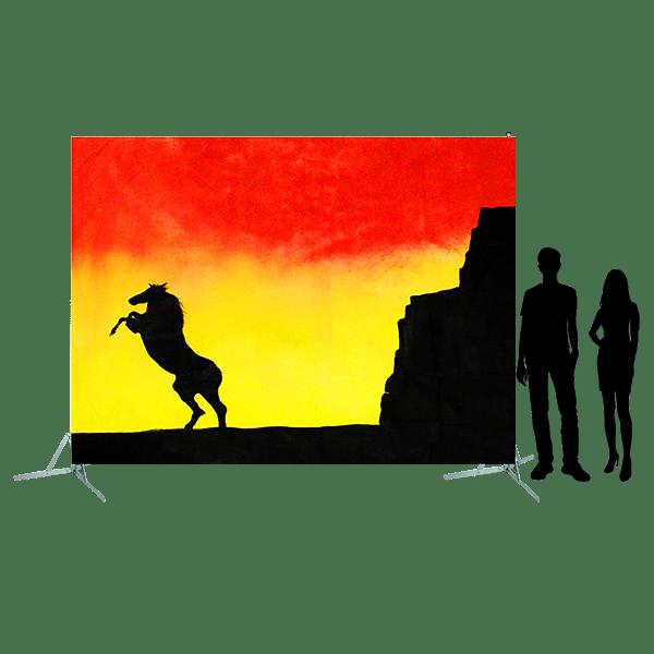 Toile 17 - Cheval cabré