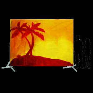 Toile 29 - Palmiers au coucher de soleil
