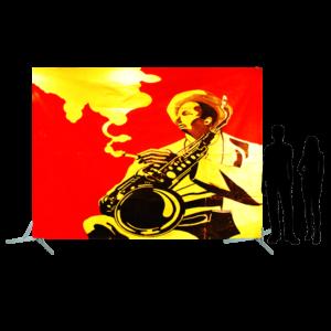 Toile 39 - joueur de saxo fumant