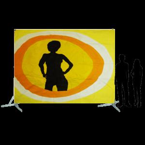 Toile 7 - Danseuse disco jaune