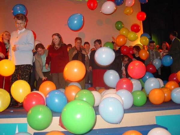 Tomber de ballons : ca chute