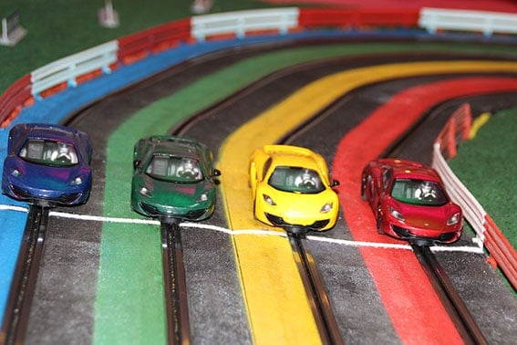voitures au départ du grand prix