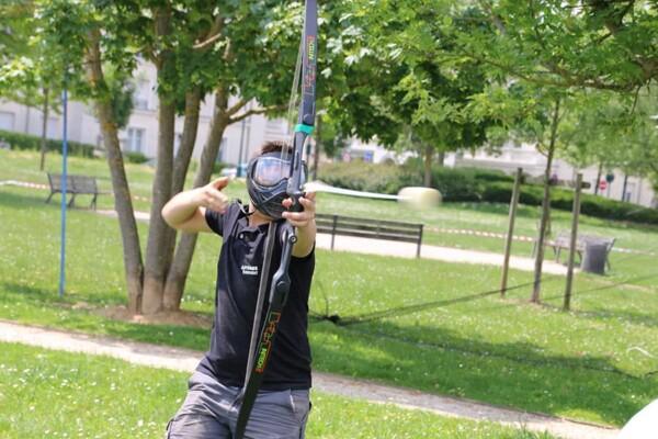 Tournoi d'archery tag : tir en force