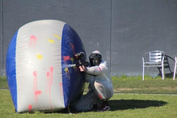 Tournoi de Paintball : tireur embusqué