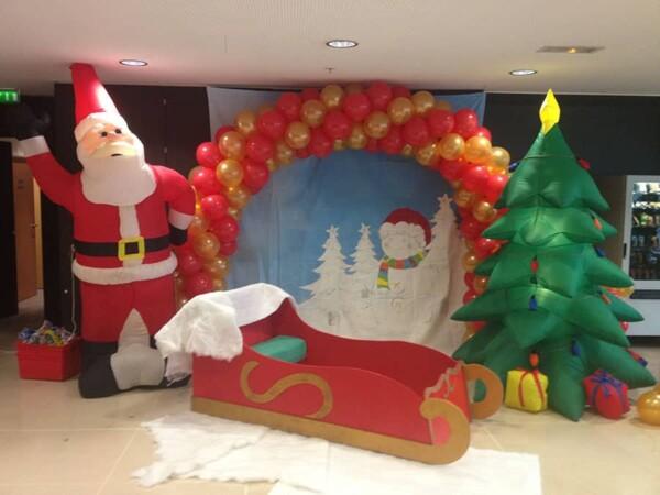 Traineau du Père Noël : dans un décor