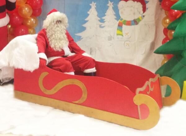 Traineau du Père Noël : avec le Père Noël