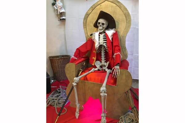 Trône du Père Noël : ambiance Pirates