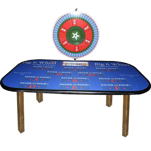 casino Roue de la chance : la table détourée