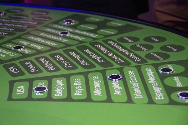 casino bières : la plateau en gros plan