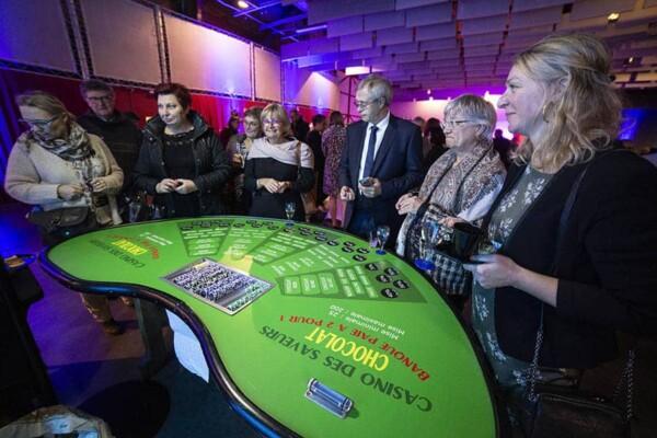 casino chocolat : avec les joueurs