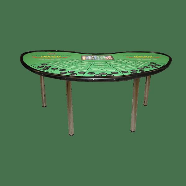 casino chocolat : la table détourée