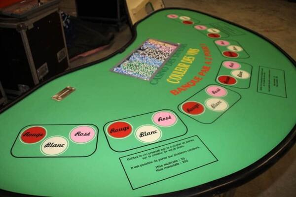 casino couleur des vins : la table de jeu