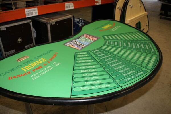 casino fromage : la table de jeu