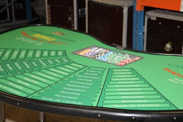 casino fromage : la table en gros plan
