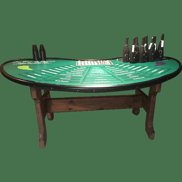 casino vin régions de France : la table détourée