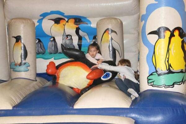 château gonflable pingouin : ça joue !