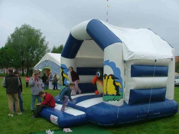 château gonflable pingouin : dans une fête