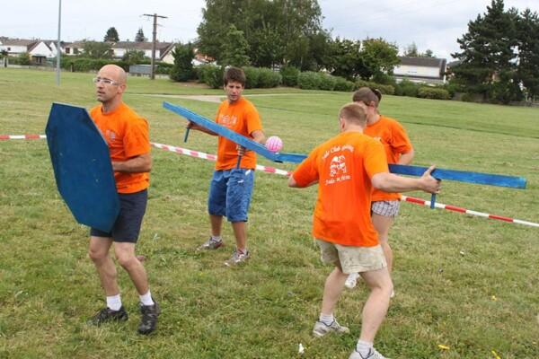 combat des ballons : l'équipe en course