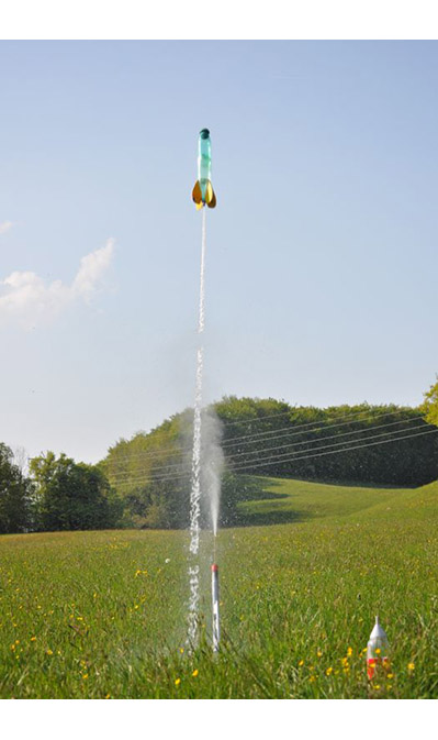 decollage fusee a eau water rocket
