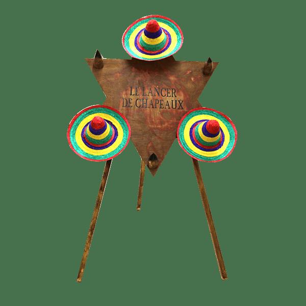 lancer de chapeaux : le jeu détouré